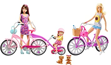 Barbie - Hermanas Camping Fun Bicicleta Ciclo ... - Amazon.es