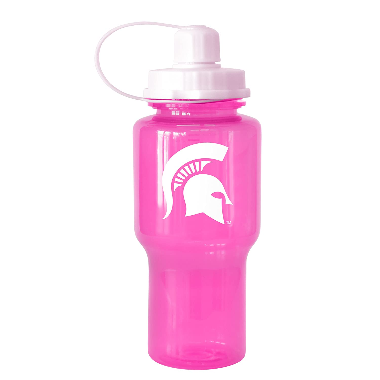 NCAA Michigan State Spartans Tritan Travel Mate Pink Water Bottle 24-Ounce Boelter Brands 282511