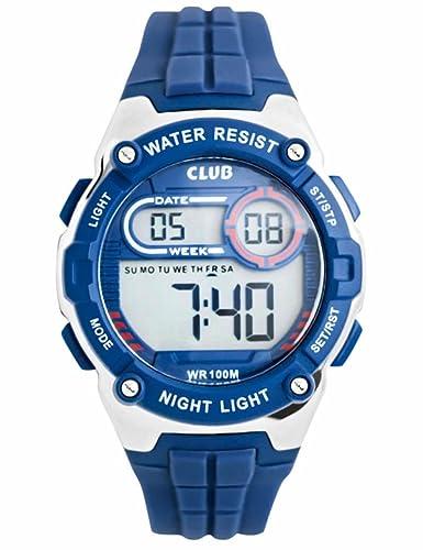 Club Joven Reloj de pulsera digital Relojes, niños Deportes 10 bar impermeable Digital con Alarma