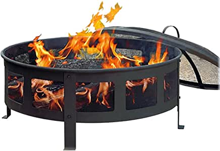 Amazon.com : CobraCo Bravo Mesh Fire Pit : Garden & Outdoor on Zeny 24 Inch Outdoor Hex Shaped Patio Fire Pit Home Garden Backyard Firepit Bowl Fireplace id=66616