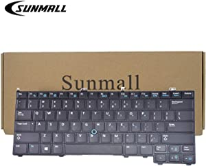 SUNMALL Backlit Keyboard Replacement with Pointer Compatible with Dell Latitude 14 7000 E7440 E7240 E7420 Series Black US Layout