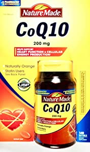 Nature Made Coq10 200 Mg, Naturally Orange, Value Size,140 Count Softgels