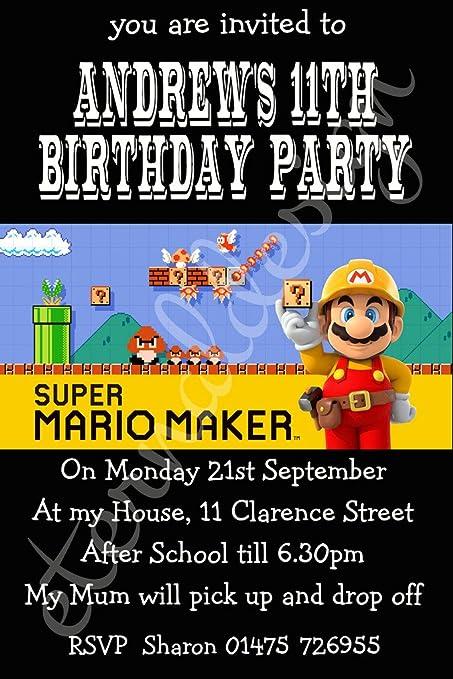 Eterna diseño personalizado niños cumpleaños invitaciones ...