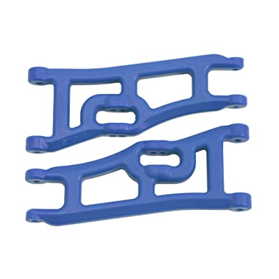RPM 70665 Wide Front A-Arms, Traxxas E-Rustler and Stampede 2WD - Blue: Toys & Games