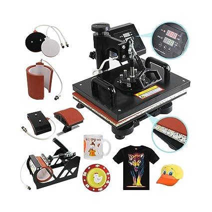 Amazon com: 5 In 1 Digital Heat Press Machine Sublimation