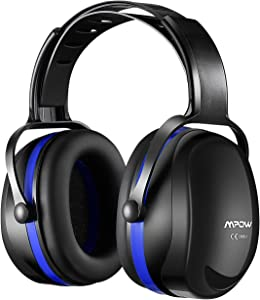 Mpow [Upgraded] Noise Reduction Safety Ear Muffs, SNR 36dB Shooting Hunting Muffs, Hearing Protection with a Carrying Bag, Ear Defenders Fits Adults To Kids with Twist Resistant Headband- Blue