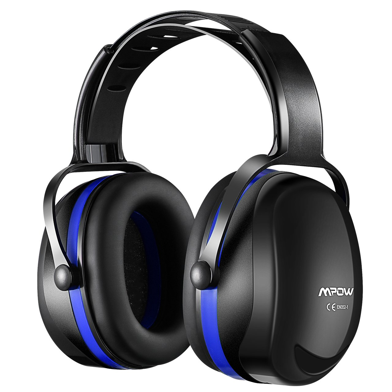 Mpow Ear Protection 2 Packs, NRR 28dB Professional Ear Defenders with a Carrying Bag, Foldable Noise Reduction Safety Ear Muffs for Hearing Protection, Shooting, Mowing, Construction, Woodworking by Mpow