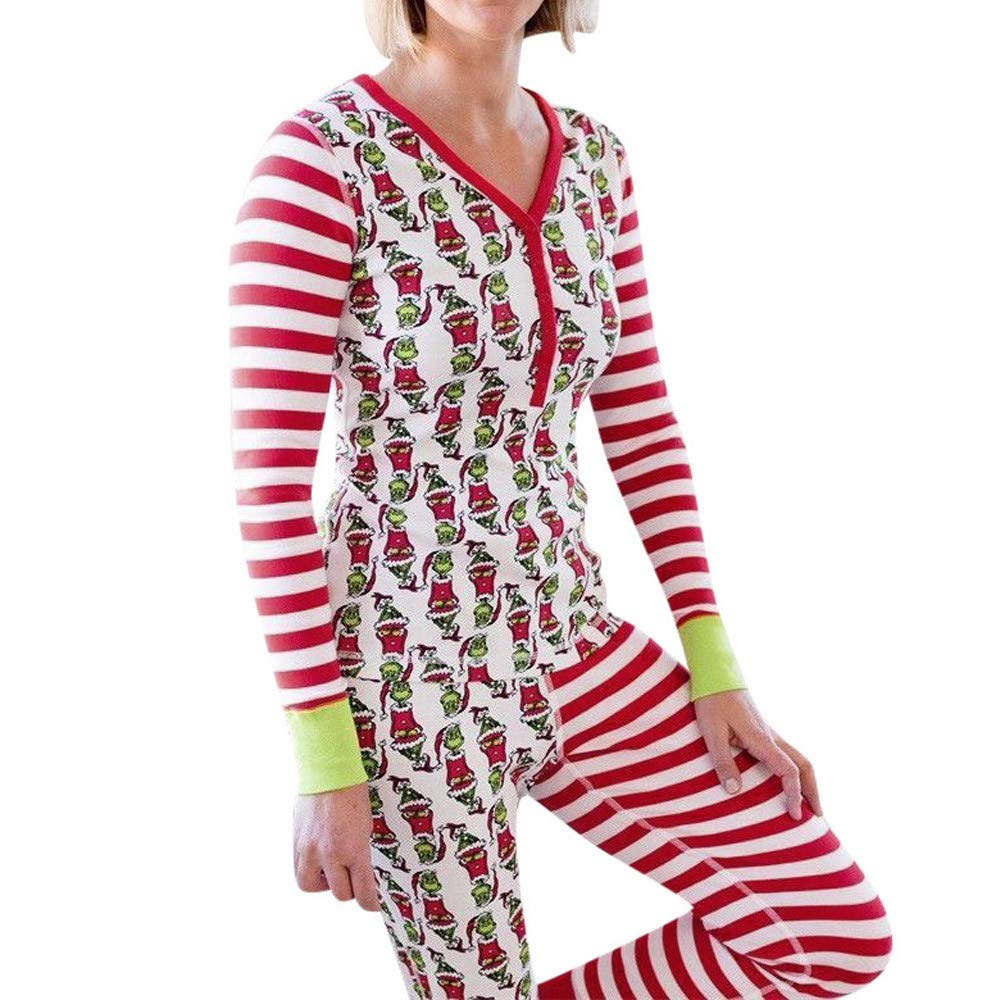 JERFER Spaß Nachtwäsche Familienabgleich Weihnachtsschlafanzüge einstellen Frauen Kid Dad Erwachsene PJs Nachtwäsche