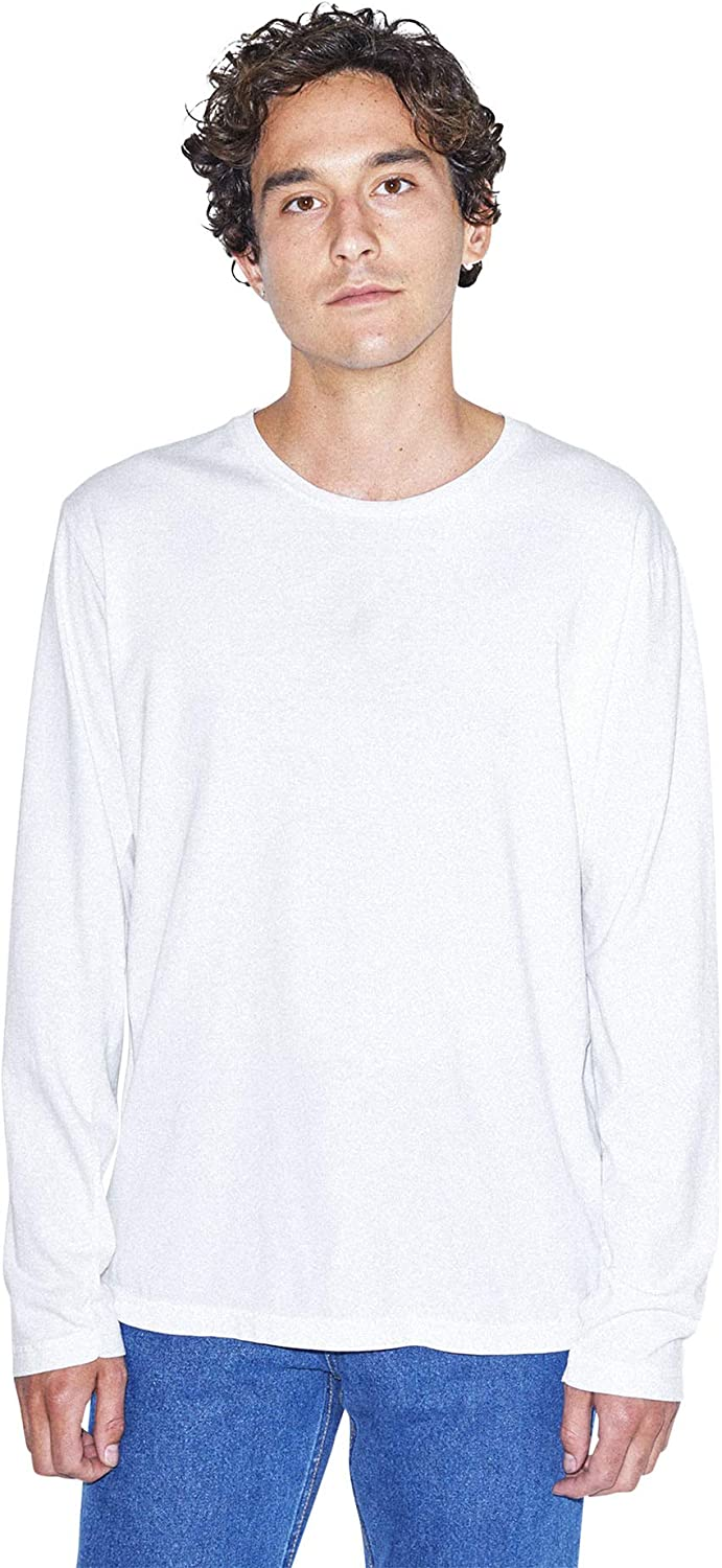 American Apparel Men's Power Wash Crewneck Long Sleeve T-Shirt