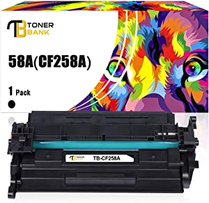 Toner Bank Compatible Toner Cartridge Replacement for HP 58A 8 Printer Ink (Black,1-Pack) CF258A CF258X 58X HP Laserjet Pro M404n M404dn M404dw MFP M428fdw M428fdn M428dw M404 M42