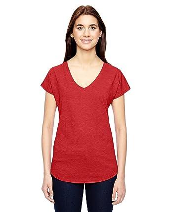 Amboss Damen-Tri Blend V-Ausschnitt T-Shirt