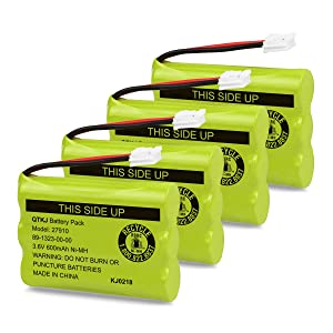 QTKJ Cordless Phone Battery for Motorola SD-7501 MD7161 AT&T 27910 89-1323-00-00 E1112 E2801 TL72108 Vtech I6725 RadioShack 23-959 (4-Pack)