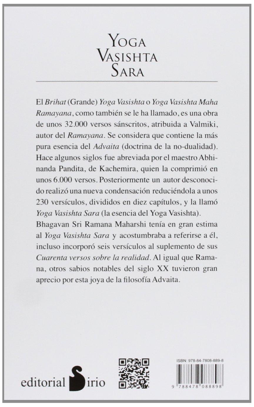 YOGA VASISHTA SARA (2013): Amazon.es: YOGA VASISHTA SARA ...
