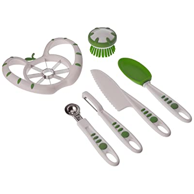 Curious Chef Children's 6-Piece Fruit and Veggie Prep Kit: Kitchen & Dining