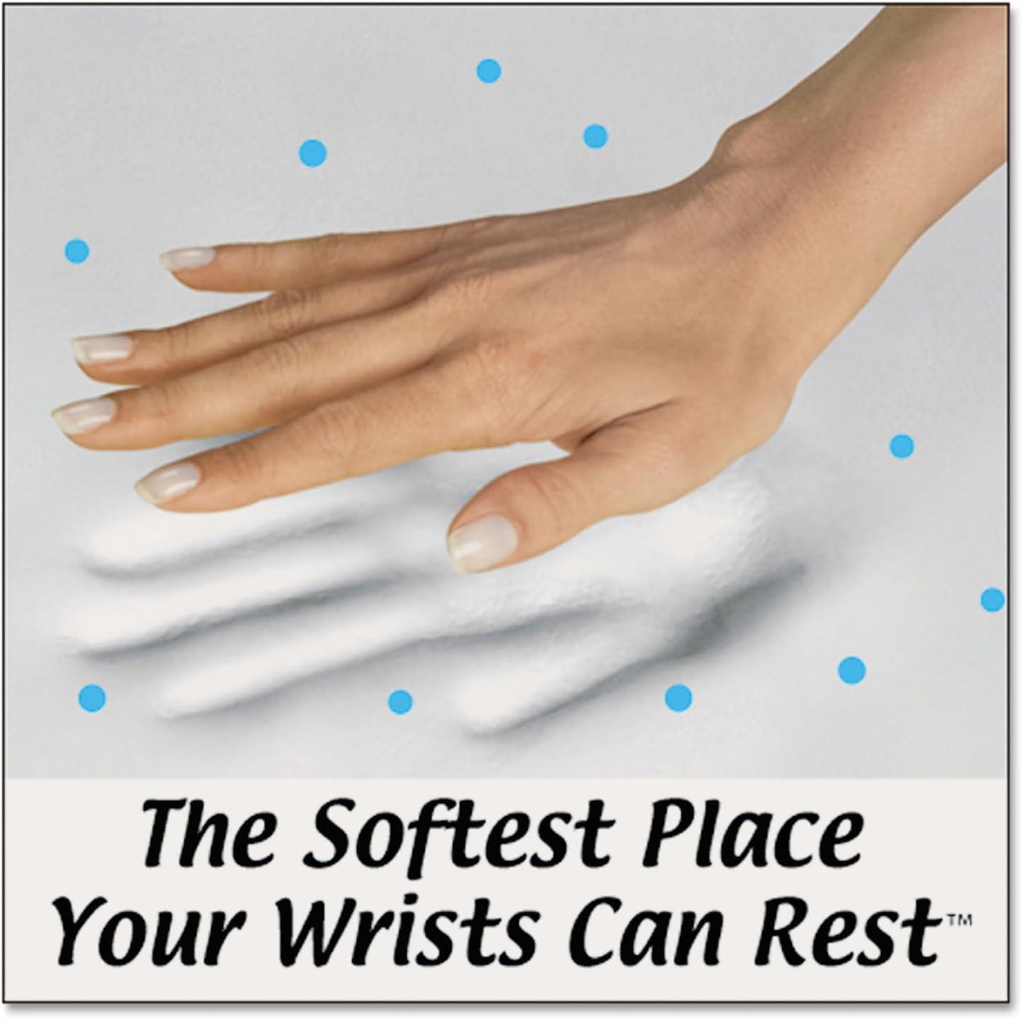 Black Fellowes PlushTouch Wrist Rest with FoamFusion Technology FEL9252101