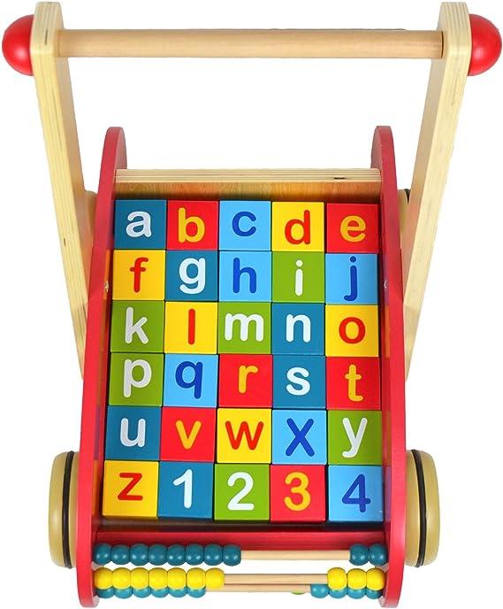 boppi/® Andador de madera para aprender el alfabeto y los n/úmeros