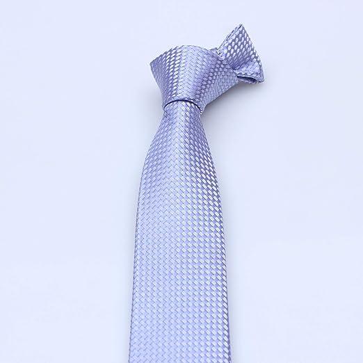 LBBJJ Corbata de Moda clásica Corbata para Hombre_Corbata de Fibra ...