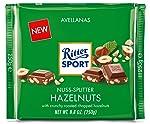 Ritter Sport Milk Chopped Hazelnut Chocolate Bar, 100g, 1 Count