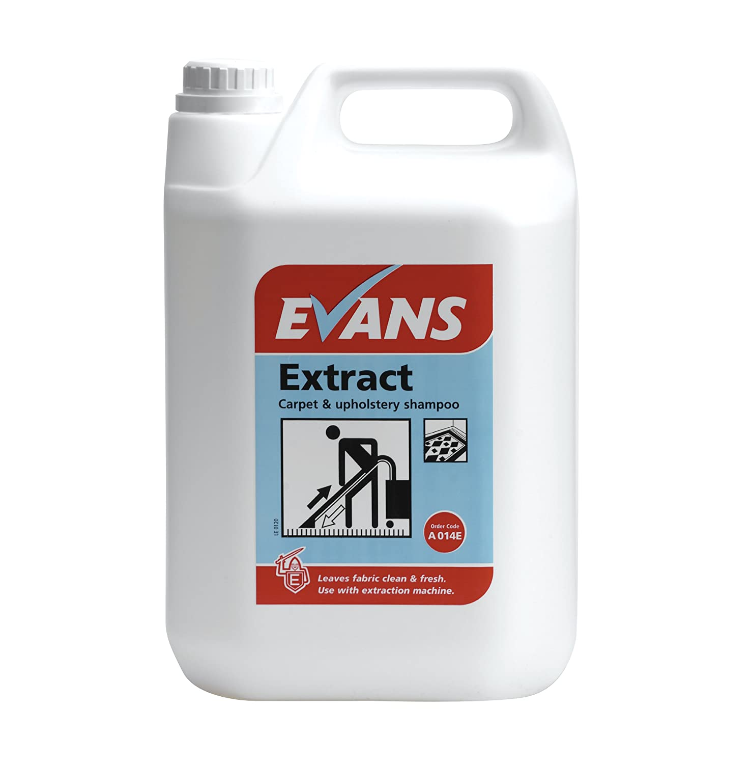 Evans Vanodine BEV002-5 Extract Pro Carpet and Upholstery Shampoo, 5 L (Pack of 2)