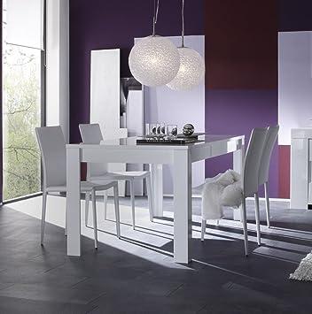 Matelpro Table De Salle A Manger Design Laque Blanc Judy Avec