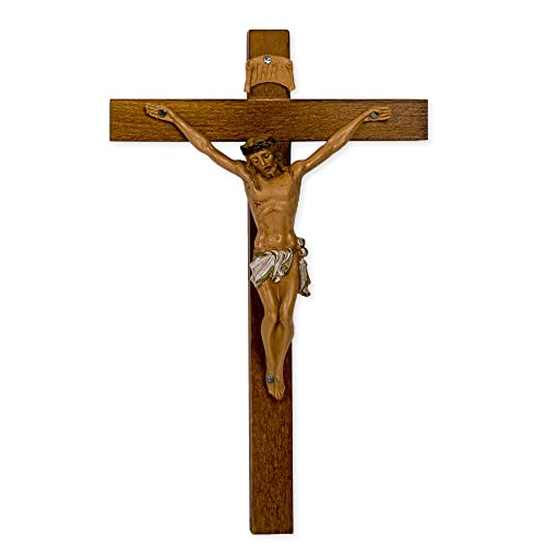 Crucifixes Fontanini Crucifix Body of Christ on a Wood Cross, 7-Inch