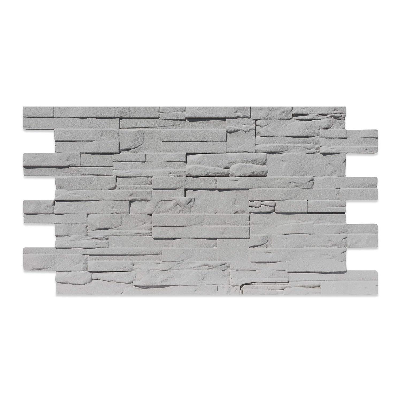 Imitació n Piedra De Poliestireno 110 cm x 56 cm cubierto GRIS Decoresin Srl