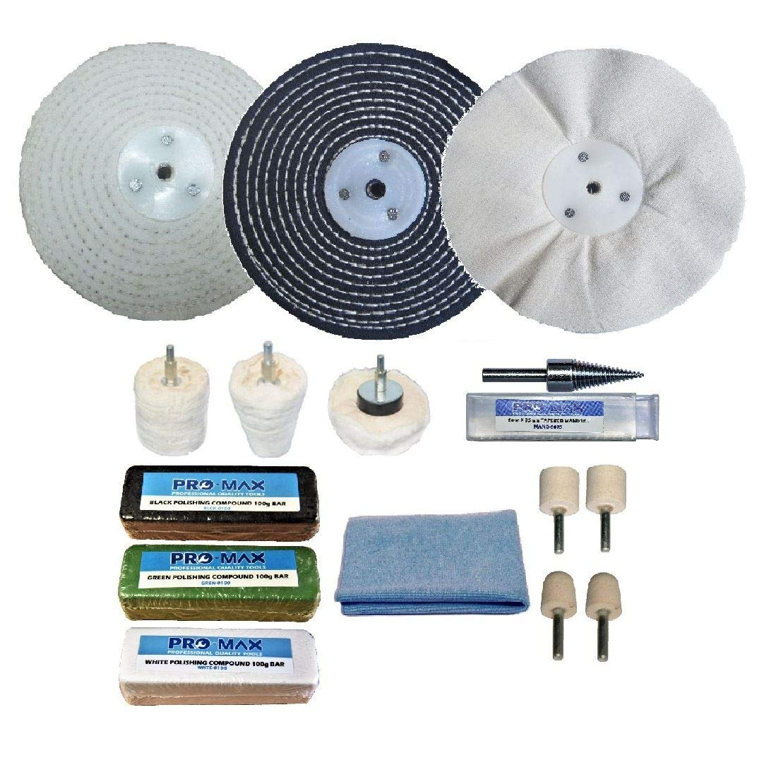 Steel & Stainless Steel Professional Metal Polishing Buffing Kit 6' x 1' Pro-Max Quality Tools & Accessories