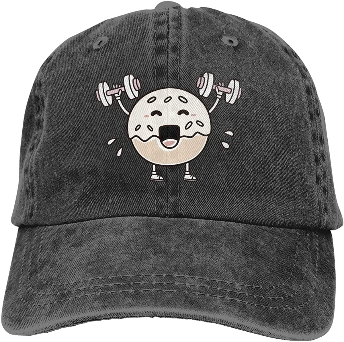 Tailing Donut Fitness Unisex Adjustable Cowboy Hat Baseball Cap for Sport
