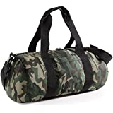 BagBase Camo Barrel Bag, 50 x 25 x 25 cm, Jungle Camo
