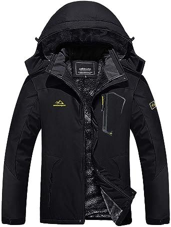 Amazon Com Tacvasen Men S Outdoor Jackets Winter Waterproof Windproof Ski Snowboard Fleece Lined Jacket Hooded Clothing