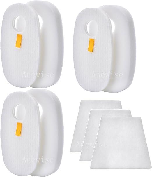 3 x Foam Felt Filter Kit Fits for SHARK Rocket HV319Q HV320 HV320W 1080FTV320