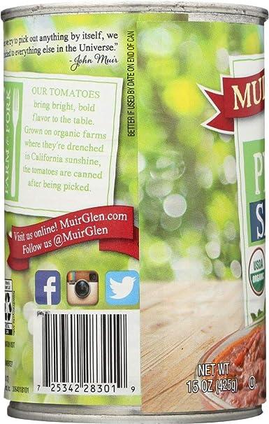 One Stop Shop Muir Glen salsa de pizza orgánica, 15 onzas ...