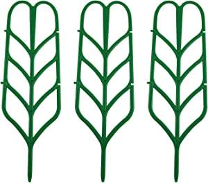 Youliang 3pcs Plastic Plants Trellis 95x350mm Green Plastic Vine Trellis Accessories for Garden, Potted Plants, Fruit and Vegetable