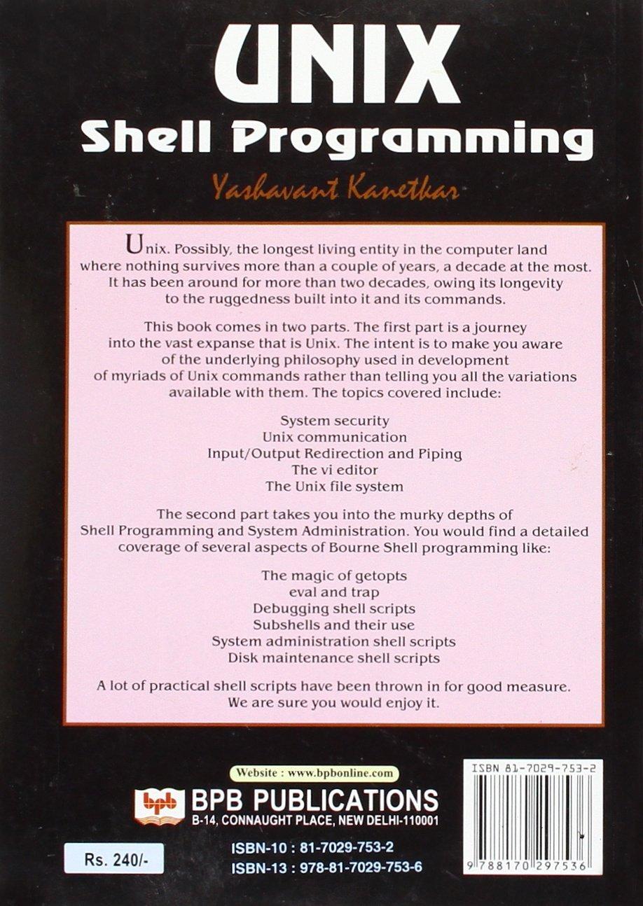 Yashwant pdf shell linux kanetkar programming by