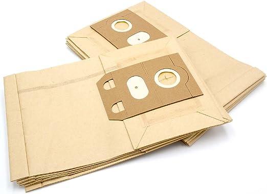 vhbw 10 bolsa papel para aspirador robot aspirador multiusos Excelsior 120 E, 134, 135 E, EX 119, EX 133, EX 350: Amazon.es: Hogar