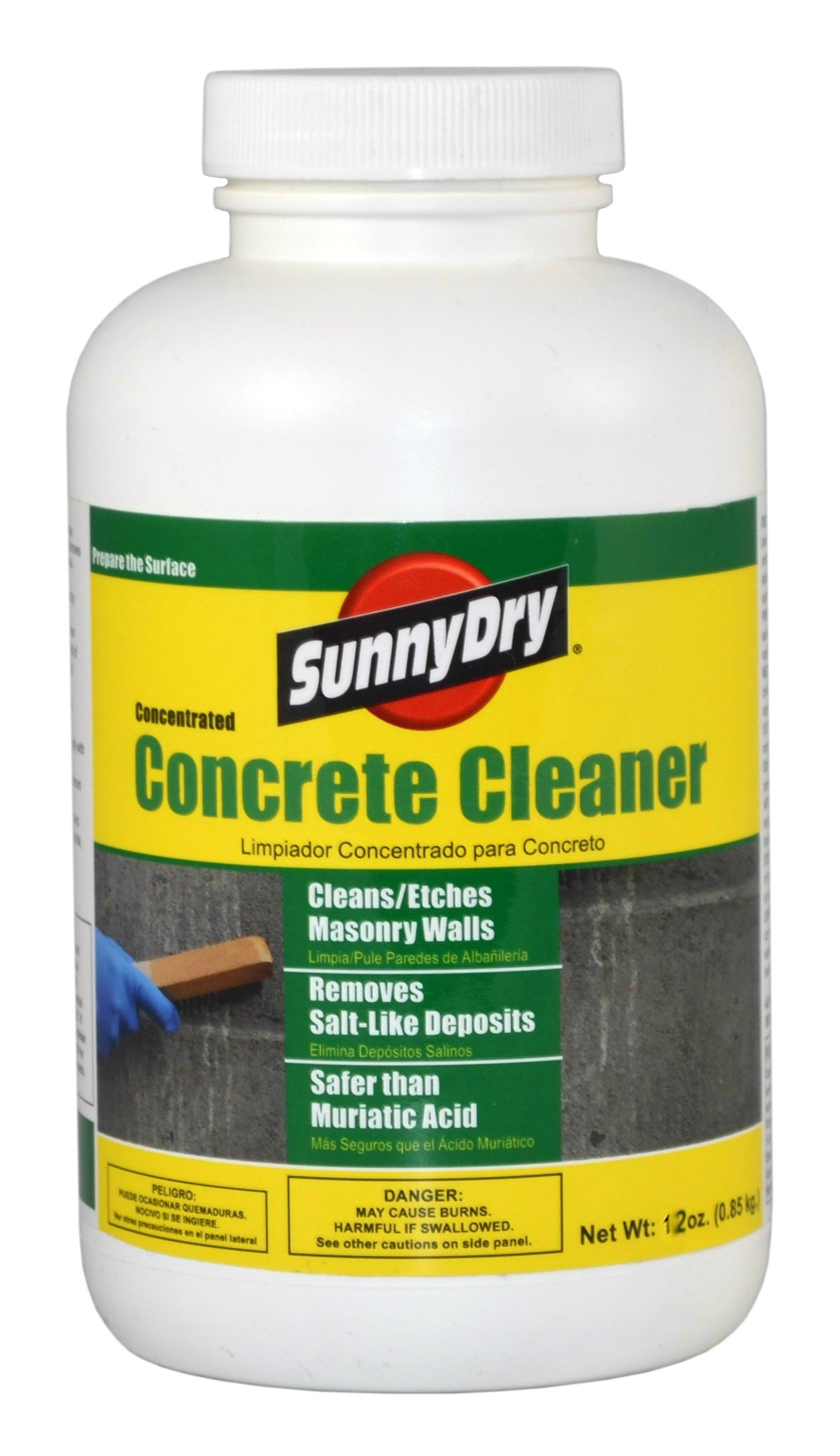 SunnyDry D950 Clear Concentrated Concrete Cleaner, 12 oz.