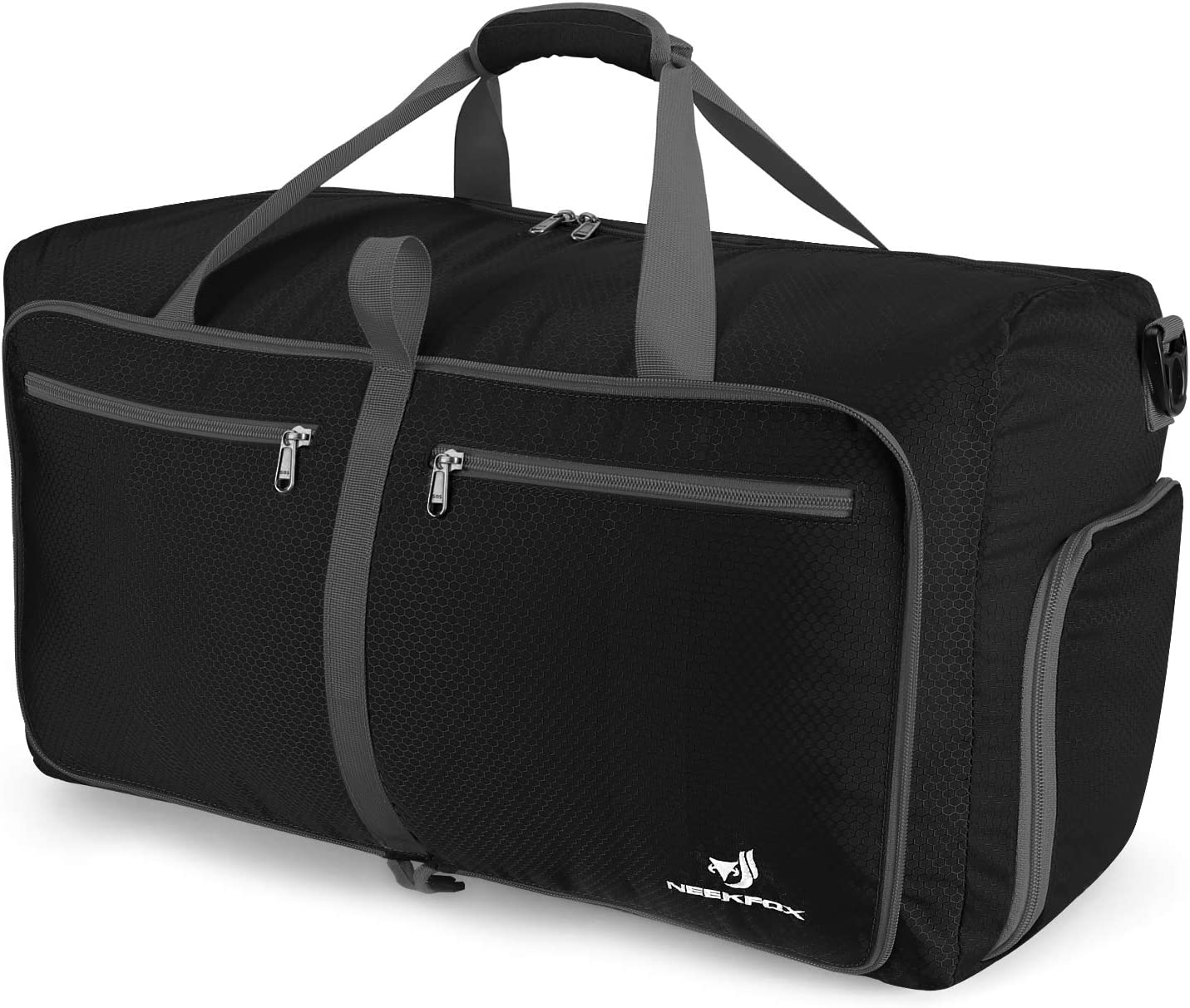 NEEKFOX Foldable Travel Duffel Bag Large Sports Duffle Gym Bag Packable Lightweight Travel Luggage Bag for Men Women 60L