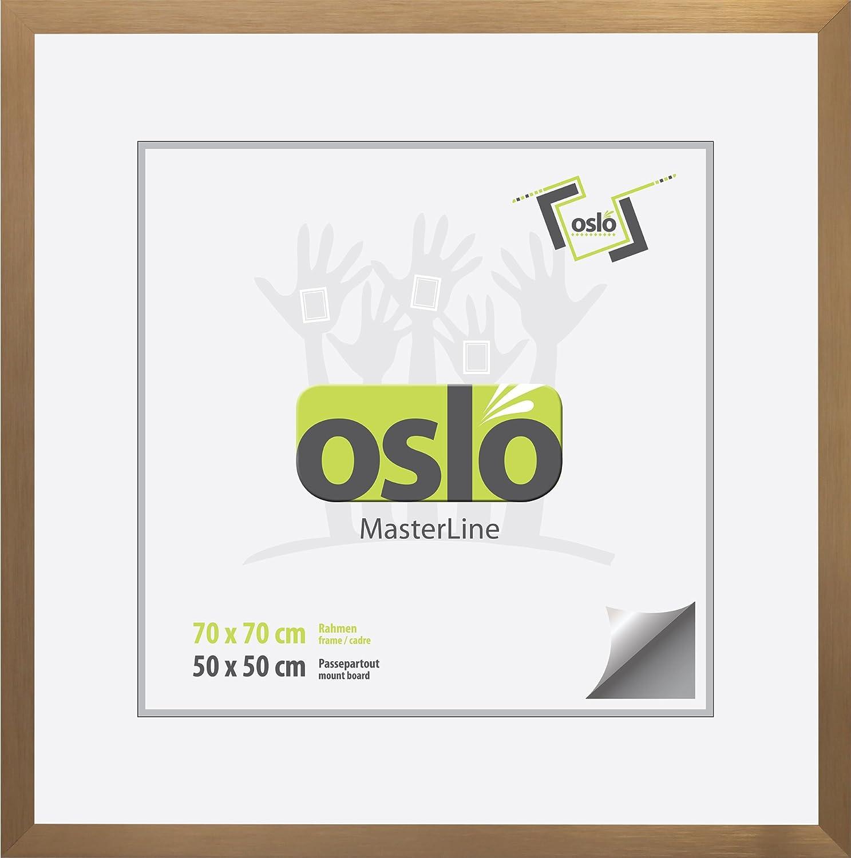 OSLO MasterLine Bilderrahmen quadratisch 70x70 Aluminium graphit ...