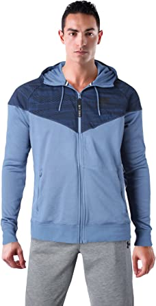 76bb7ce020 Nike Shield Men s Full Zip Windbreaker Running Jacket Blue 805138 404 ...