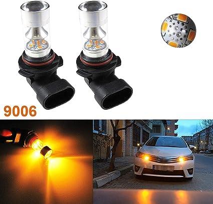 4X vehicle Ultra Pure White H10 Cree LED 16 SMD Fog Light Bulbs 6000K 12V bulbs
