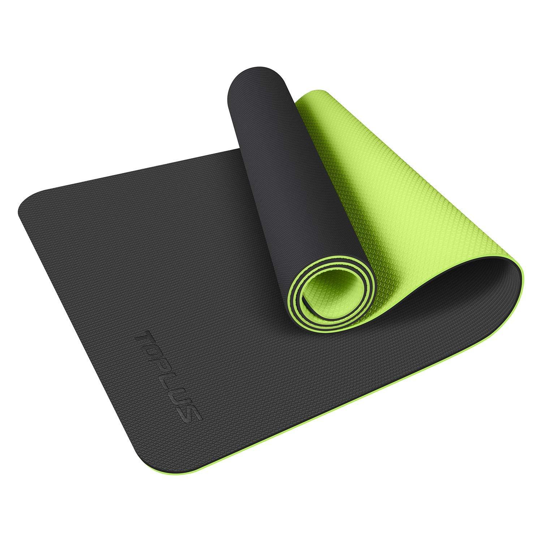 TOPLUS - Alfombrilla de yoga, 1/4 pulgadas, TPE, respetuosa ...