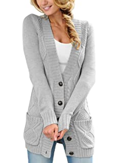 Astylish Women Open Front Long Sleeve Chunky Knit Cardigan Sweaters Loose  Outwear Coat S-XXL d3b906575
