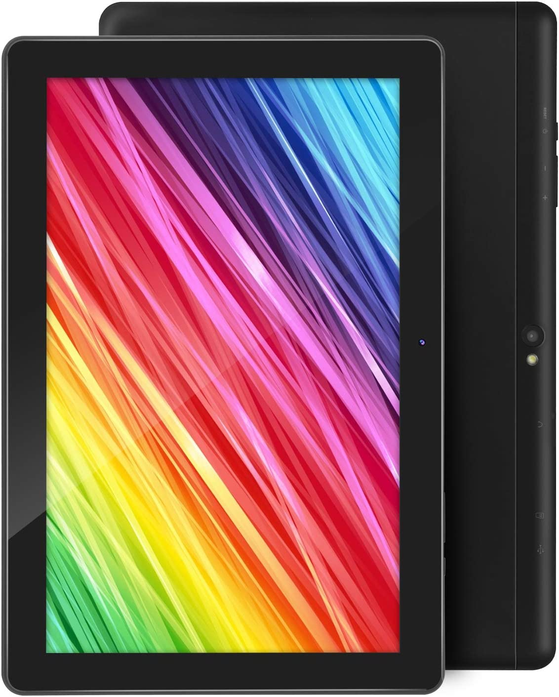 Tablet 10.1 Inch Android 9.0 Tablets with 4GB RAM+64GB ROM 2MP+ 5MP Camera, WiFi, Bluetooth, GPS, Quad Core,1280x800 HD Touchscreen - 6000mAh Battery (Black)