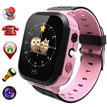 Kids Smart Watch for Boys Girls Gift - Child Sports Watch Phone Digital Wrist SOS Call Camera Flashlight Alarm Clock for Children Games Watches LBS ...