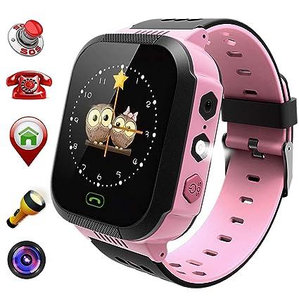 Kids Smart Watch for Boys Smartwatch Wifi/GPS Tracker Watch, Activity Tracker Digital Watch Smartwatch, Touch Screen HD Camera Pedometer SOS Math Game ...