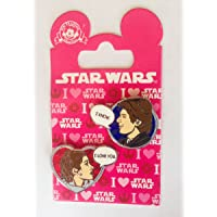 Star Wars Disney Pin 113240 Han Solo and Princess Leia Valentines I love you I know pin set