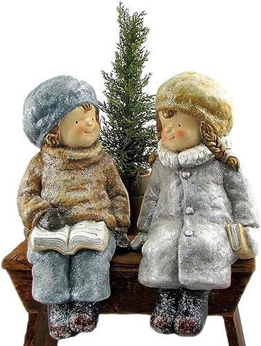 Zaer Ltd. International Holiday Children Figurine with Christmas Tree