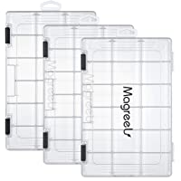 Magreel Fishing Tackle Boxes, Transparent Fish Tackle Storage with Adjustable Dividers, Plastic Box Organizer 3600/3700…