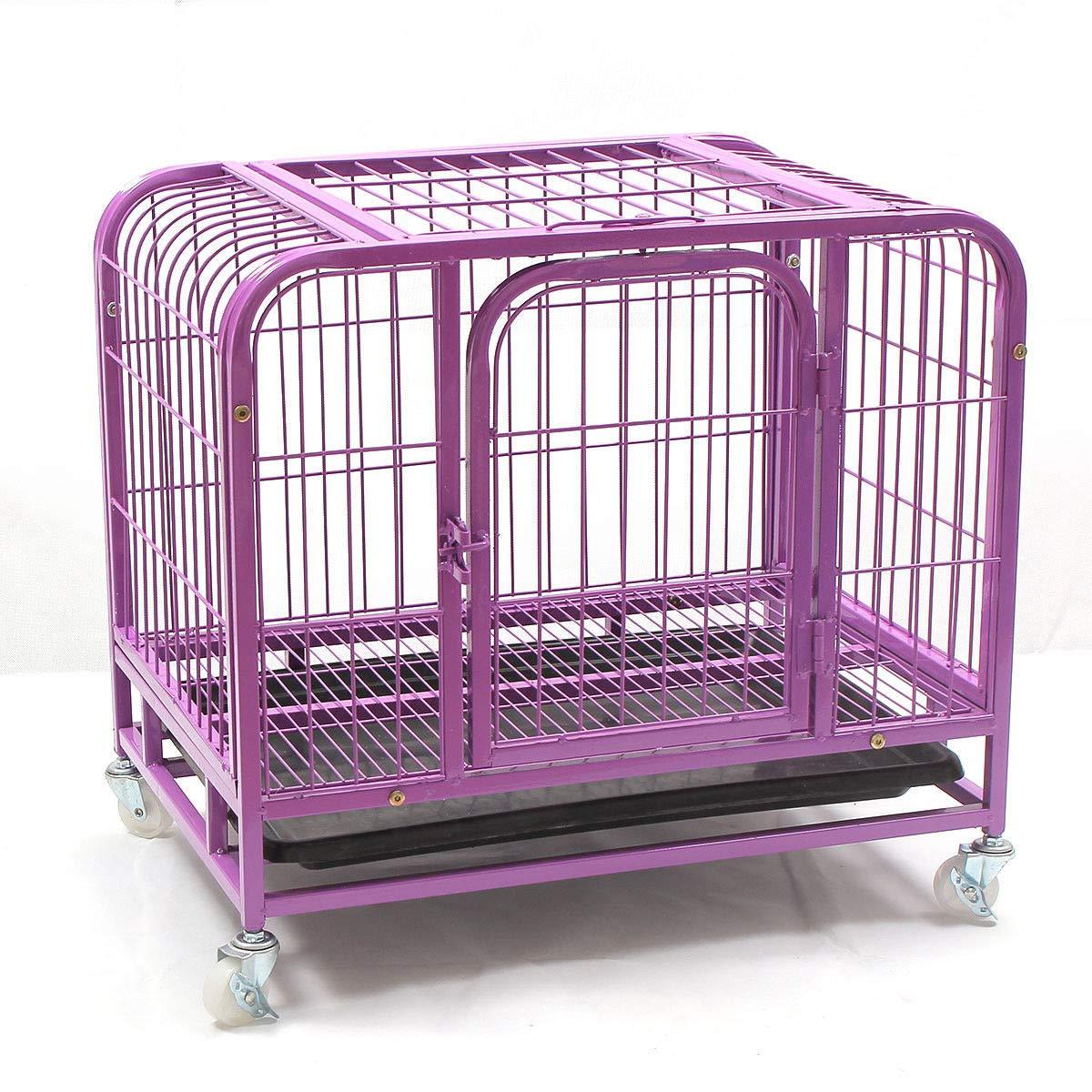 Generic.El cassa in acciaio er Animal Carrier ruote Fol Pet Dog Ty Pet extra large Heavy-Duty Larg gabbia pieghevole grande ha