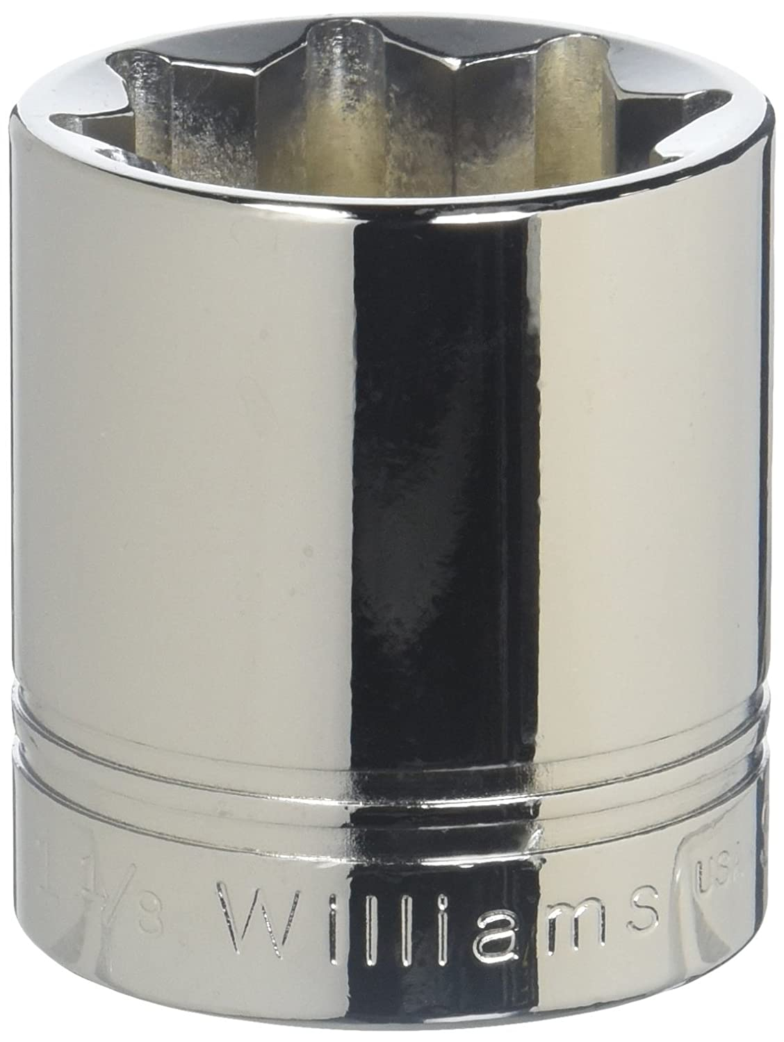 Williams ST-619 1/2 Drive Shallow Socket, 6 Point, 19/32' 19/32 JH Williams Tool Group